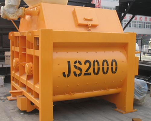 twin shaft forced concrete mixer supplier