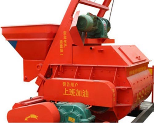 twin shaft forced concrete mixer
