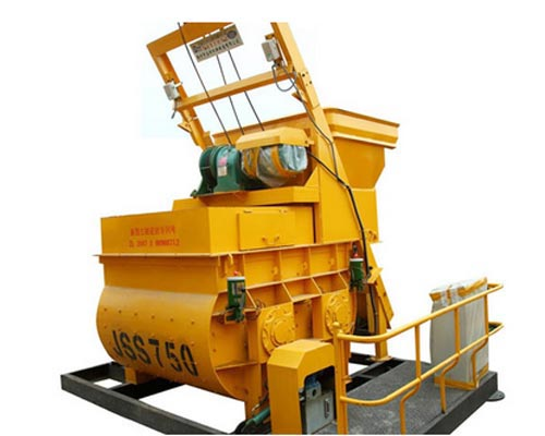 horizontal shaft concrete mixer