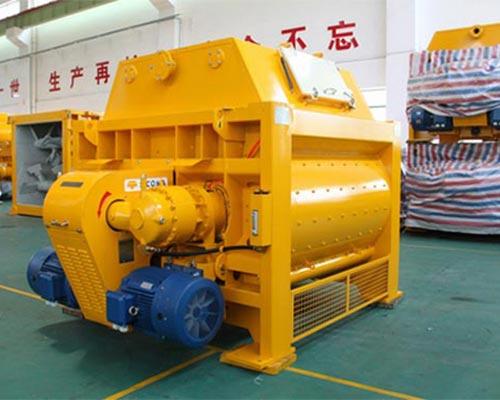 horizontal shaft concrete mixer