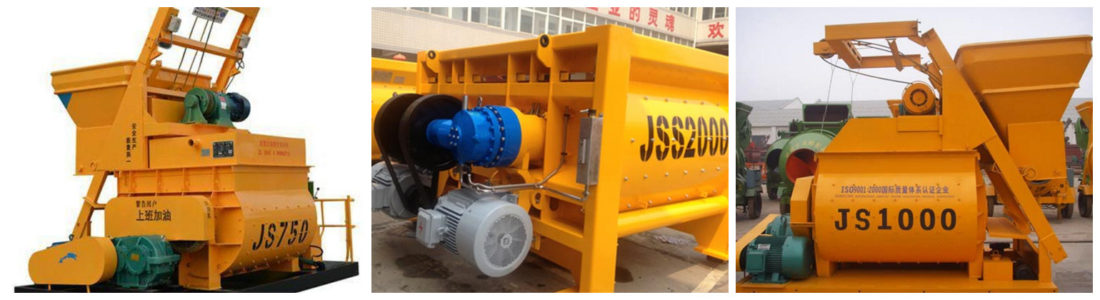 dual shaft concrete mixer