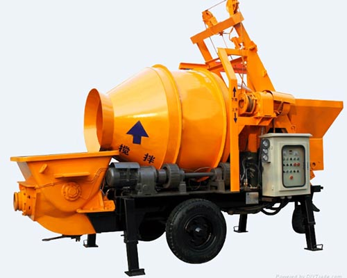 concrete mixer and pump