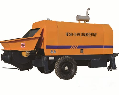 diesel engine concrete trailer pump