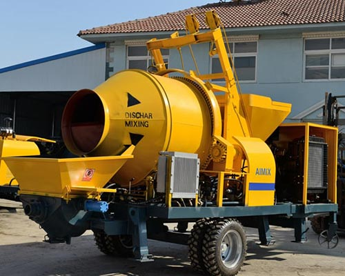 Aimix JB30 diesel concrete mixer pump was exported to Uzbekistan ...