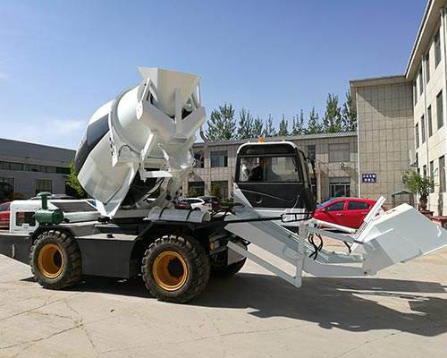 self lading concrete mixer truck