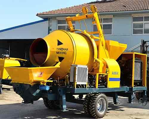 Diesel concrete mixing pump