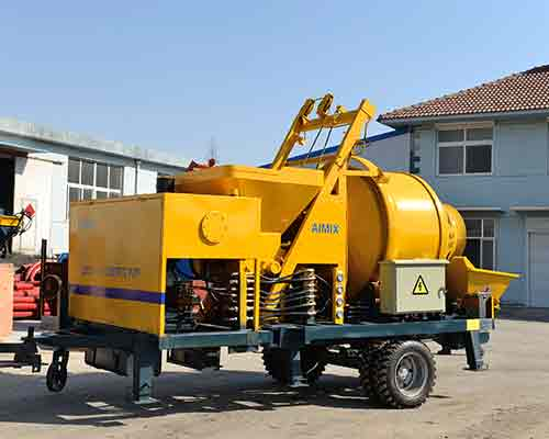 Hot sale diesel concrete mixing pumps