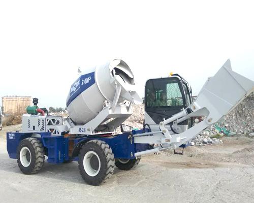self loading concrete mixer machines